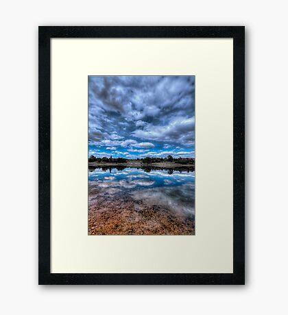 Sky Cotton Framed Print