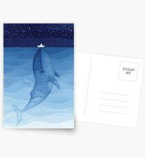 Blauwal, Meerestiere Postkarten