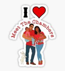 I Love Meet The Chambers Sticker