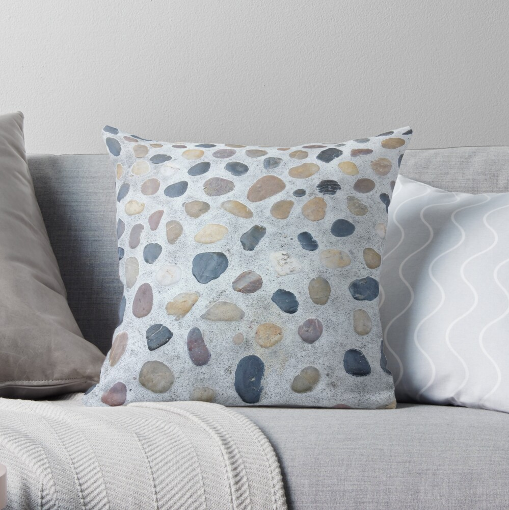 Minimalistic Gift - Stones and Pebbles Design Throw Pillow