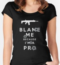 Blame me!!! 2 Women's Fitted Scoop T-Shirt