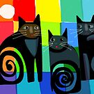 Colourful cats 53 paper by Karin Zeller