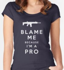 Blame me!! Women's Fitted Scoop T-Shirt