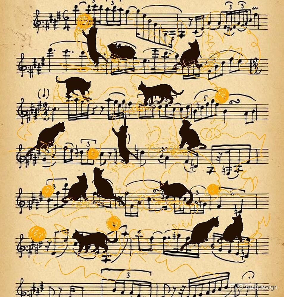 musical kittens  by FVO-italydesign