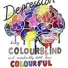 Depression Rainbow Brain by Fiona Fletcher