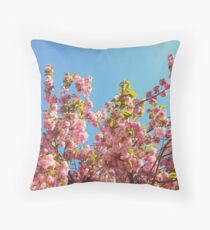 Mothers Day Floral Gift - Cherry Blossoms Photography Throw Pillow