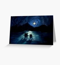 Moonlight Monsters Greeting Card
