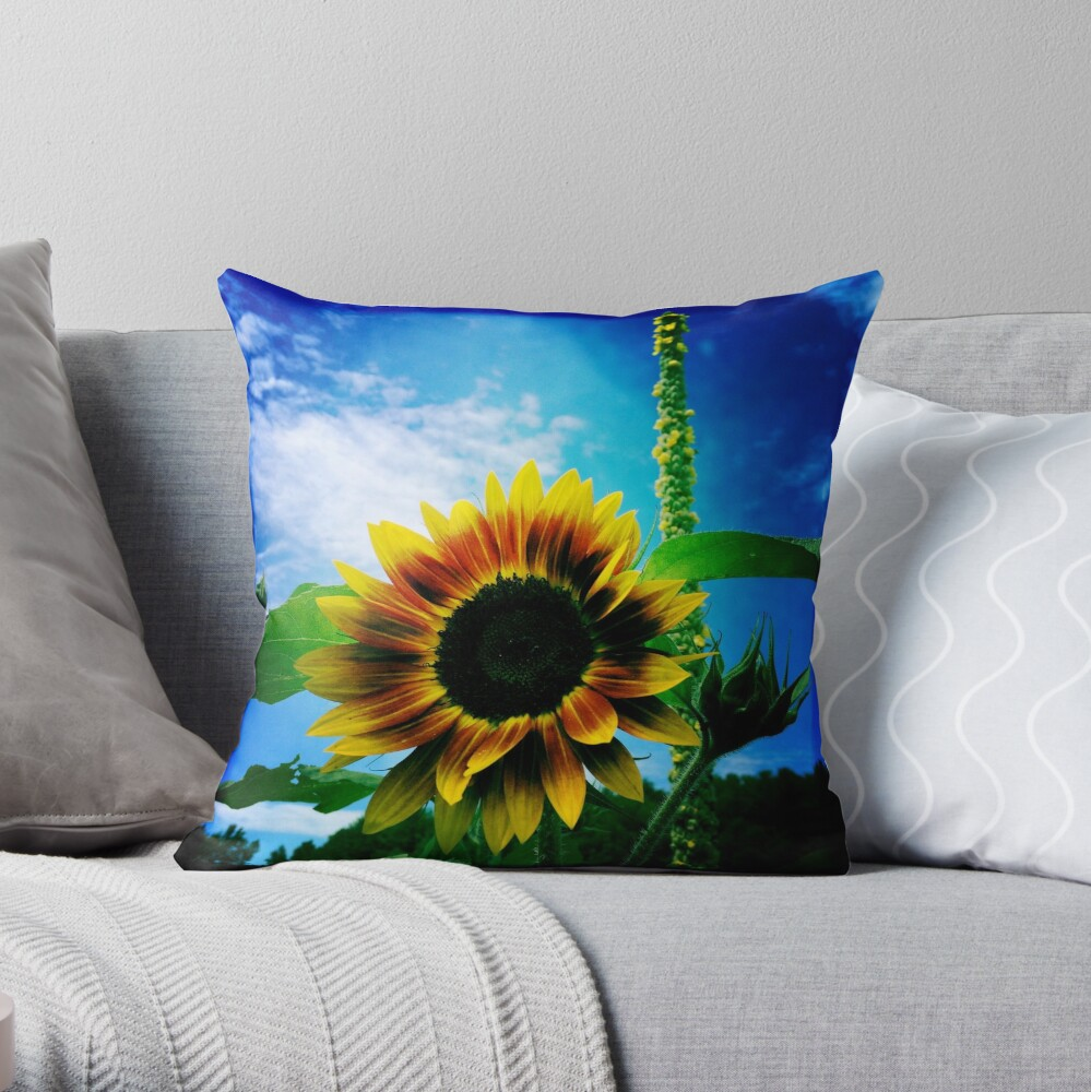 Sunflower Lover - Sunflower Art Photography Throw Pillow