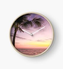Palm in Paradise Clock