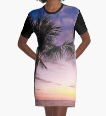 Palm in Paradise Graphic T-Shirt Dress