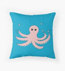 Octo the Octopus  Throw Pillow