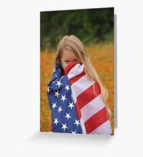 Giggly Patriot Greeting Card