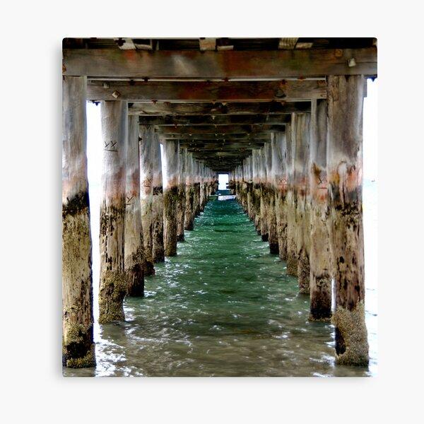Under the Pier - Flinders, VIC Canvas Print