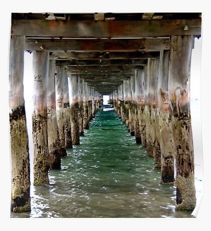 Under the Pier - Flinders, VIC Poster