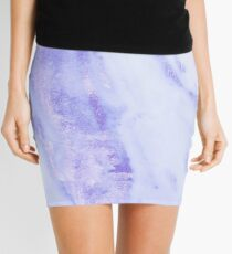 Blauer Marmor - Shimmery Sky Blue Indigo Marmor Metallic Minirock