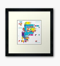 F graphics pattern Framed Print