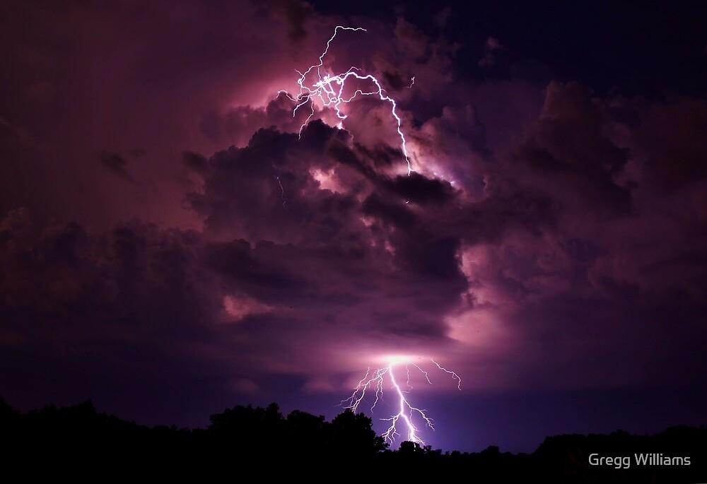 Lightning strike in Missouri by Gregg Williams