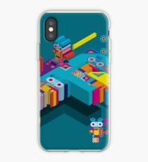 F graphics pattern iPhone Case