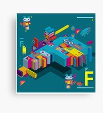 F graphics pattern Canvas Print