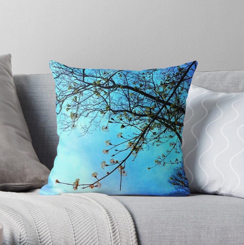 Gift for Nature Lovers - Spring blooms at dusk Throw Pillow