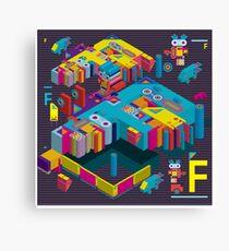 F graphics pattern 3 Canvas Print
