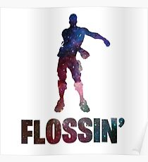 Flossing Galaxy Poster