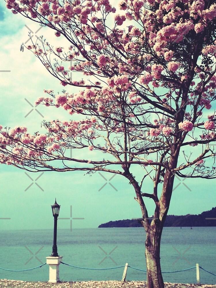 Blooms by the Sea - Panama Landscape  by OneDayArt