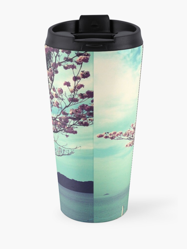 Alternate view of Blooms by the Sea - Panama Landscape  Travel Mug