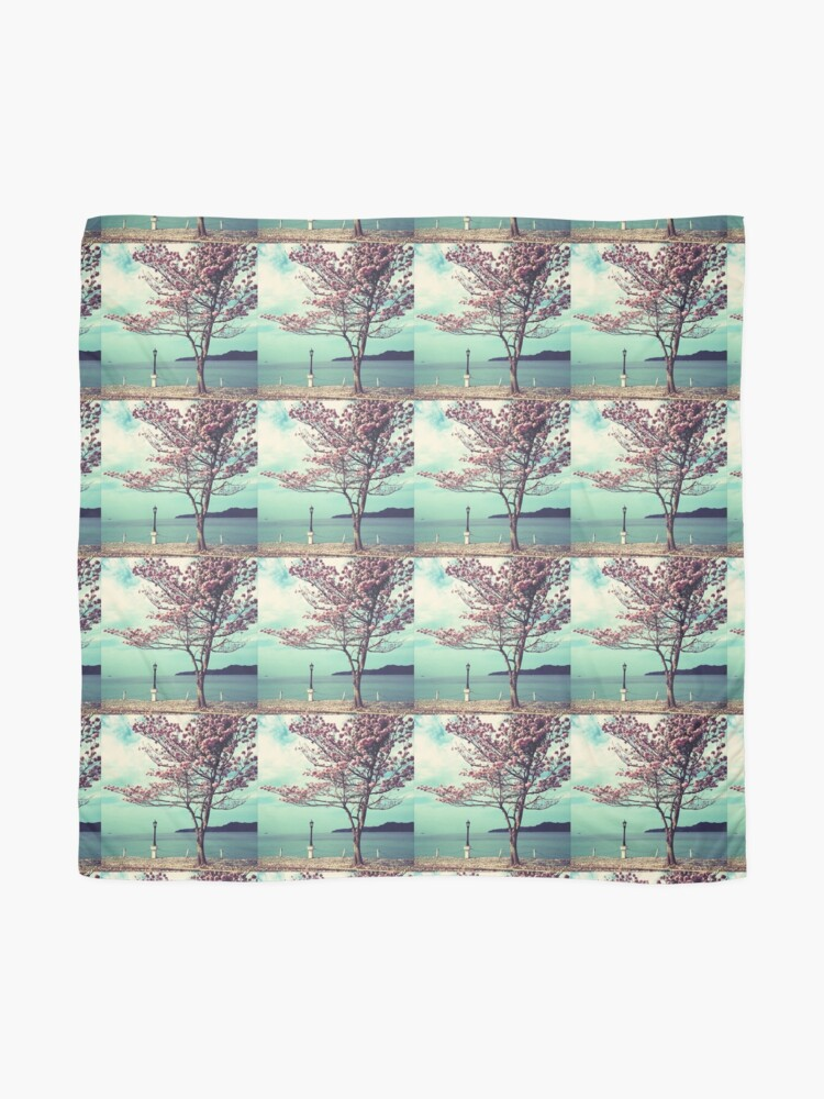 Alternate view of Blooms by the Sea - Panama Landscape  Scarf