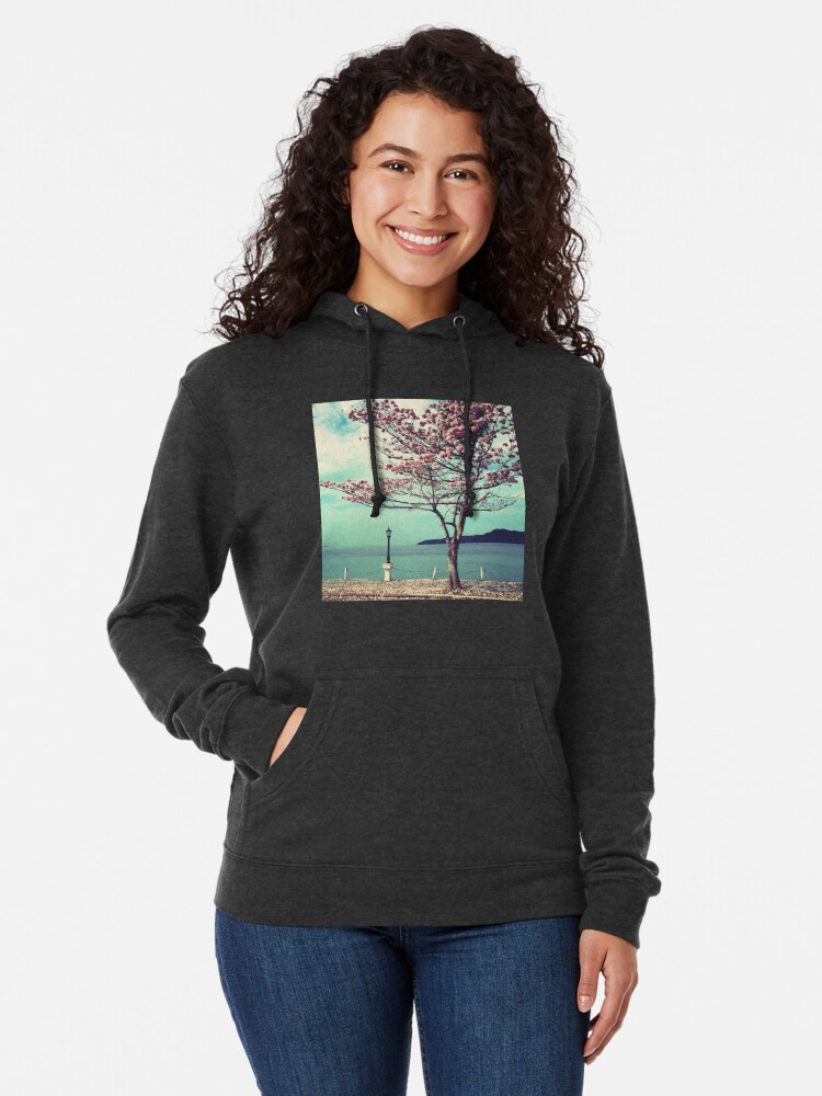 Alternate view of Blooms by the Sea - Panama Landscape  Lightweight Hoodie