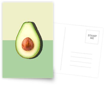 Avocado halbe Scheibe tropische Frucht von PrintsProject
