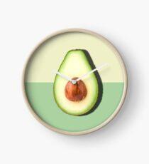 Avocado halbe Scheibe tropische Frucht Uhr
