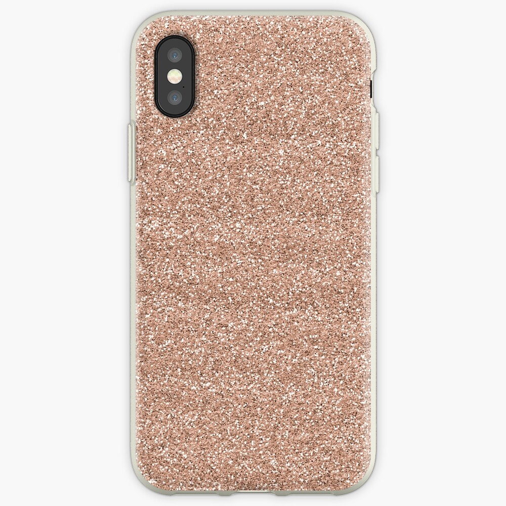 Rose Gold Glitter - Glittery Pink Metallic Glitter iPhone-Hülle & Cover