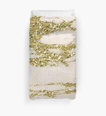 Marmor - Gold Marmor Glittery Pink und Gelbgold Bettbezug
