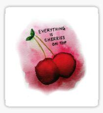 Panik! in der Disco Cherries On Top Sticker