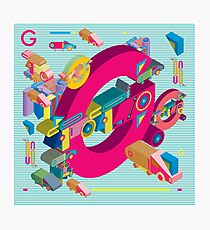 vector alphabet 3D letter G Photographic Print