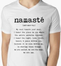 Namaste. Men's V-Neck T-Shirt