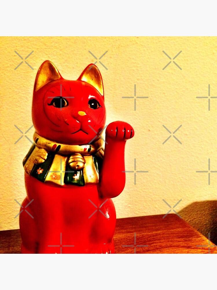 Lucky Cat - Maneki Neko  by OneDayArt