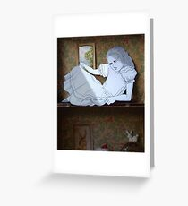 Alice in the white Rabbit's House Greeting Card