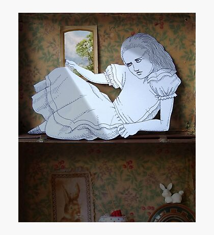 Alice in the white Rabbit's House Photographic Print