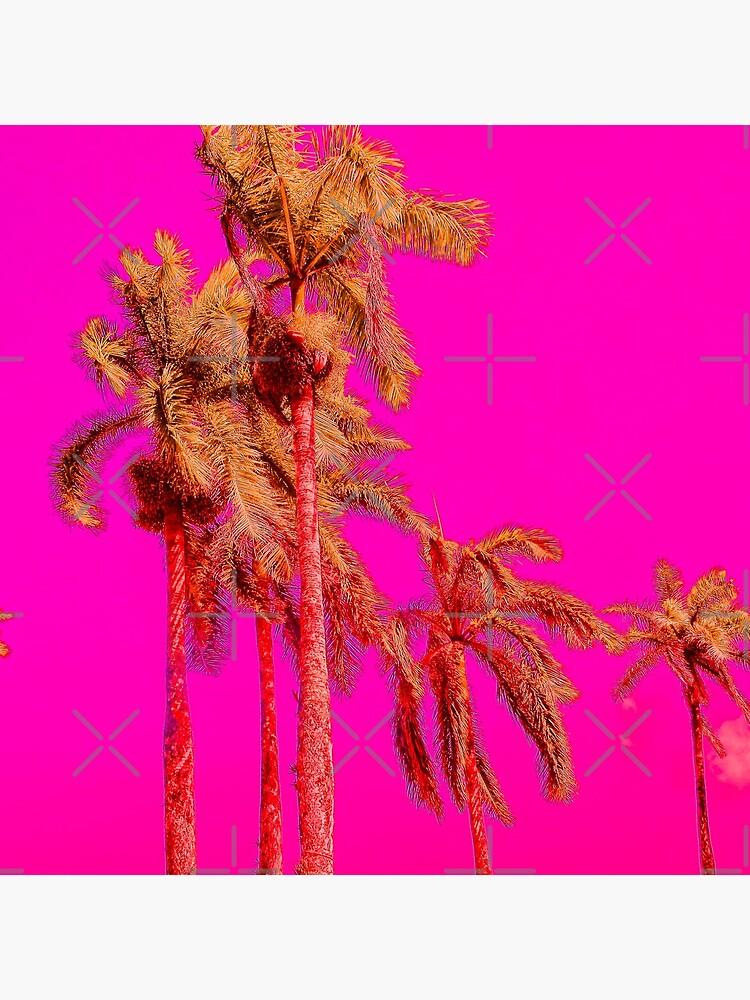 Neon Pink Tropics - Psychedelic Coconut Trees Art - Graduation Gift by OneDayArt