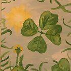 Das. Ansicht von unten ein vierblättriges Kleeblatt von artbycaseylh