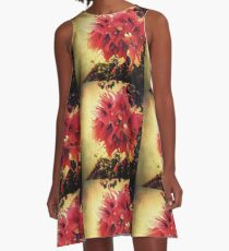 Sunset Bougainvillea A-Line Dress