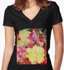 Springtime Bouquet Art Women's Fitted V-Neck T-Shirt