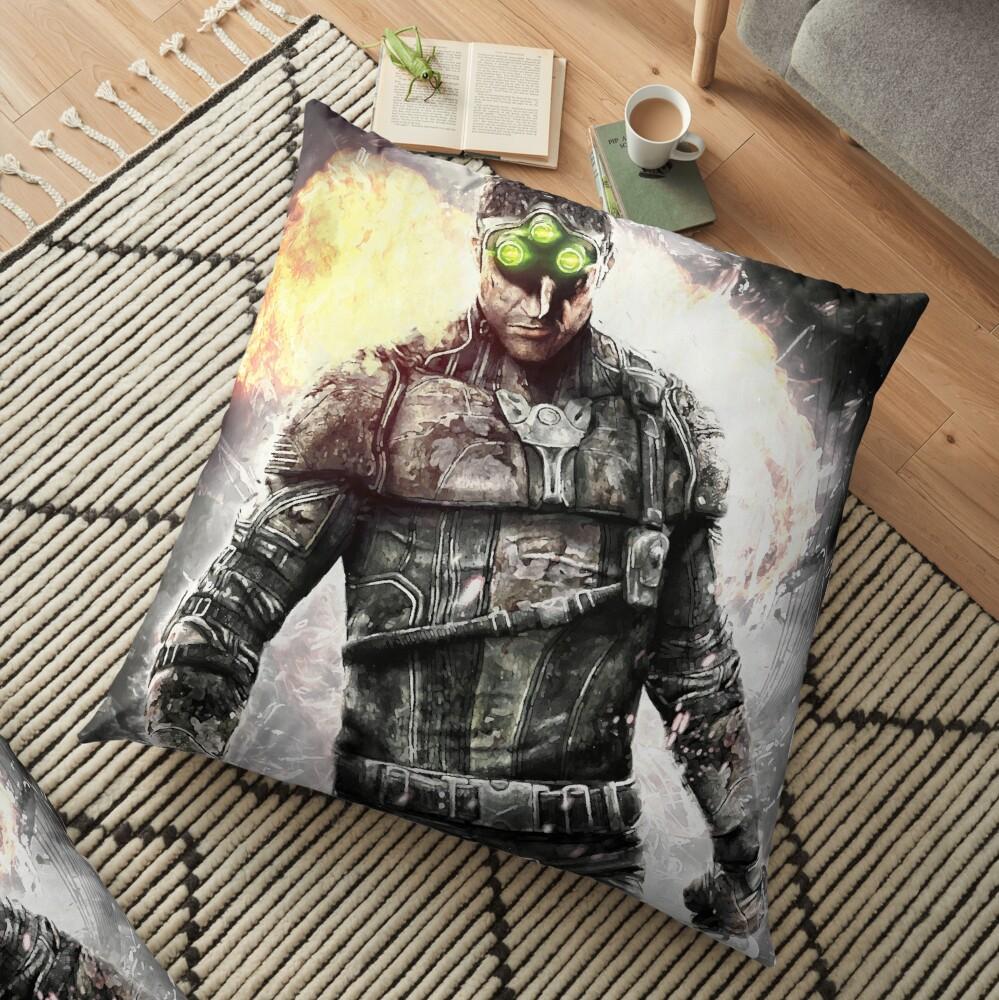 Sam Fisher Black List Floor Pillow