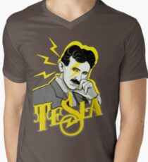 Tesla Men's V-Neck T-Shirt