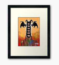 Turtleneck Bat Goblin Framed Print