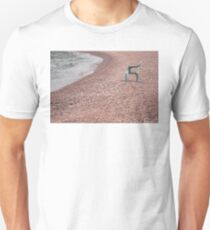 Empty Chair on Pebble Beach T-Shirt