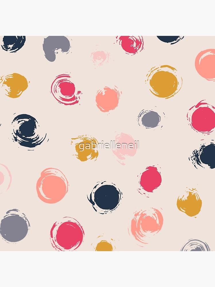Handpainted Circle Textures Cream Multi by gabrielleneil