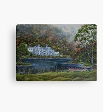 """Mist over Kylemore Abbey"" - Oil Painting Canvas Print"